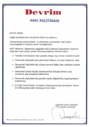 PEFC Politikası